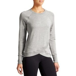 ATHLETA Criss Cross Sweatshirt lightweight heather